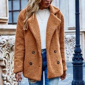 Shein Teddy Coat Medium